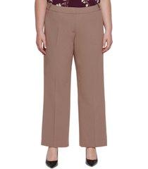 calvin klein plus size mid-rise pleat-front pants