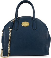 half-dome leather satchel