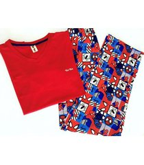 pijama hombre / spiderman / pantalon y camiseta
