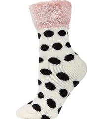 polka dot plush women's cabin socks