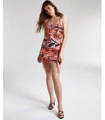 bar iii printed ruched mini dress, created for macy's