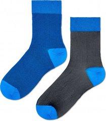 skarpetki filippa nylon ankle sock blue