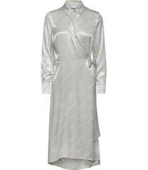dress w. belt knälång klänning grön coster copenhagen