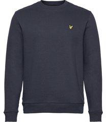 ripstop panel sweatshirt sweat-shirt trui blauw lyle & scott