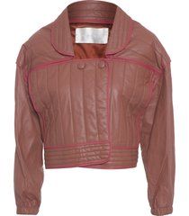 jaqueta feminina couro - marrom
