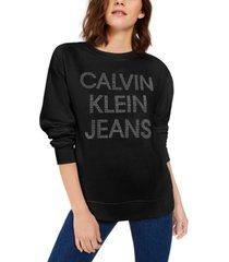 calvin klein jeans fleece-lined graphic sweater