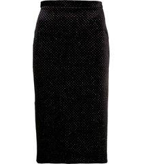 christopher kane glitter velvet pencil skirt - black
