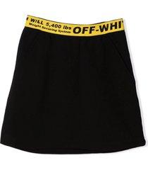 off-white black cotton skirt