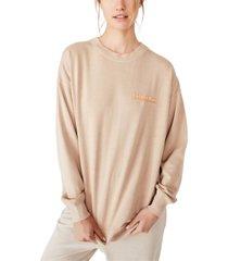 cotton on lulu graphic oversized crew sweatshirt