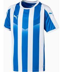 liga gestreept shirt, blauw/wit, maat 116 | puma