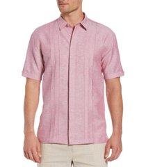 cubavera men's two-tone triple tuck panel shirt