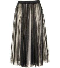 brunello cucinelli midi pleated tulle bright shade skirt