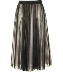 brunello cucinelli midi pleated tulle bright shade skirt
