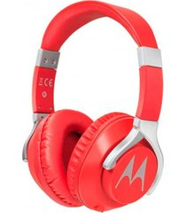 audífonos pulse 200 over-ear bass rojo con cable motorola