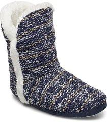 laze knitted homewear boots slippers tofflor blå laze