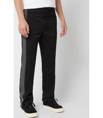 lanvin men's ribbon side stripe pants - black - it 52/w36 - black