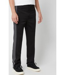 lanvin men's ribbon side stripe pants - black - it 52/w36 - black