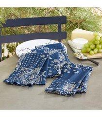 sundance catalog bandana napkins, set of 4 in red