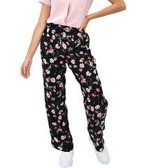 pantalon flores b/recta