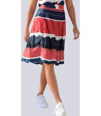 kjol alba moda marinblå::röd