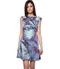 sukienka z połyskiem niebieska