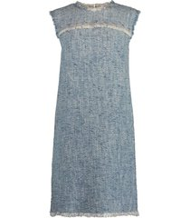 damika sleeveless tweed shift dress