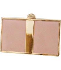 bolsa clutch real arte geométrica rosa