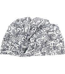 10 corso como sketch-print turban hat - white