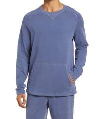 men's rhone bolinas crewneck sweatshirt, size xx-large - blue
