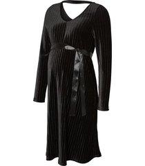 zwangerschapsmini-jurk velours