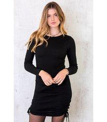 jurk met stretch zwart