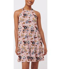 loft floral tiered halter swing dress