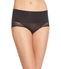 women's spanx undie-tectable lace hi-hipster panties, size medium - black