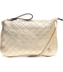bolsa tiracolo couro capodarte matelass㪠dourada - dourado - feminino - couro - dafiti