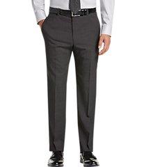 joseph abboud modern fit charcoal tic suit separates dress pants