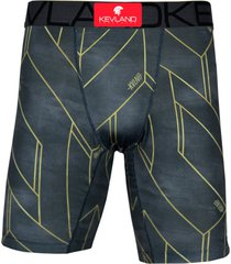 cueca boxer long leg kevland dark line cinza - cinza/preto - masculino - dafiti