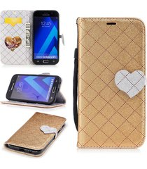 galaxy a5 2017 phone case,xyx love hit color leather folio flip card slots magne