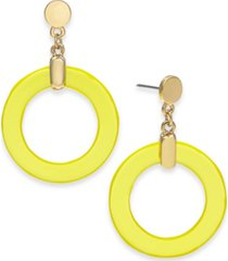 alfani gold-tone circle drop earrings, created for macy's