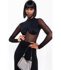 akira mesh with me long sleeve bodysuit