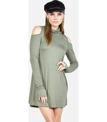 harp turtleneck dress - l palm