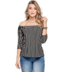 blusa para mujer bicolor mp 46203