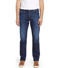 men's ag graduate slim straight leg jeans, size 42 x 34 - blue