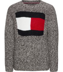 flag logo sweater pullover zwart tommy hilfiger