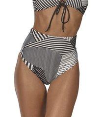 calça de praia hot pants geométrica demillus 12140 preto - tricae