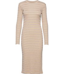 2x2 tonal stripe duba dresses everyday dresses beige mads nørgaard