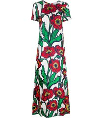 la doublej swing big blooms-print dress - green