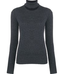 chalayan split neck sweater - grey