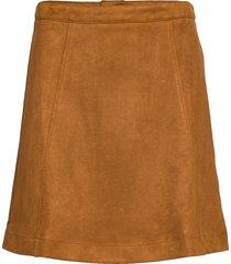 peyton kort kjol brun jumperfabriken
