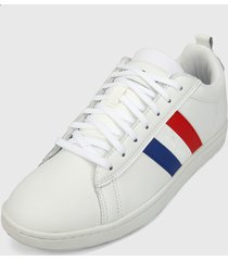 tenis lifestyle blanco-azul-rojo le coq sportif courtclassic