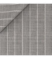 giacca da uomo su misura, lanificio ermenegildo zegna, lana lino grigia gessata, primavera estate | lanieri